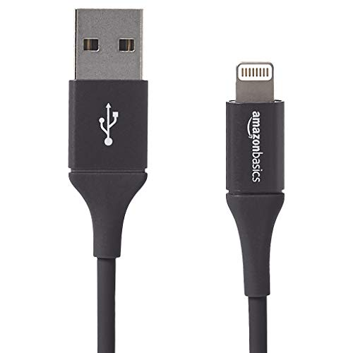 AmazonBasics Apple Certified Lightning to USB Charge and Sync Extra Tough Cable, 3 Feet (0.9 Meters) - Black