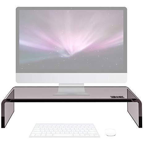 Duronic DM054 Supporto Monitor scrivania Supporto da Tavolo per Monitor Schermo Laptop in Vetro...