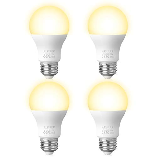 AISIRER Lampadina LED Intelligente, Lampadine Smart Luce WiFi E27 Dimmerabile 2700K Luce Bianca...
