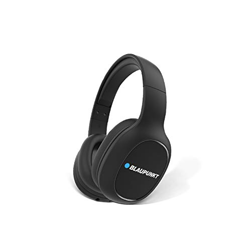 Blaupunkt BH21 Bluetooth Over-The -Ear High Bass HD Sound Wireless Headphone with Turbo Bass Equaliser Mode, Super Soft Protein Over-The Ear Cushions, 24 Hours Battery Life