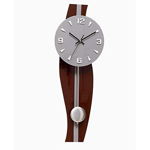 LIBINA - Clock Orologio Silenzioso, Arte Pendolo Moderno Processo Ritorto Orologio Creativo...