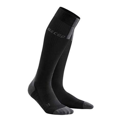 CEP - Run Socks 3.0 für Herren | Kompressionsstrumpf mit präzisem Druckverlauf in schwarz/grau | Größe III