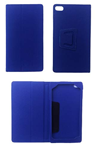 KANICT Front Back Leather Flip Case Cover for Lenovo Tab7 7304F Tablet (8GB, Wi-Fi Only) (Blue)