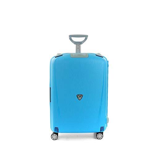 Roncato Light Trolley Medio - 4 Ruote, 68 Cm, 80 Litri, Blu Ciano