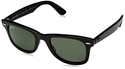 Ray-Ban Polarized Wayfarer Unisex Sunglasses - (0RB4340601/5850|50|Green Polarized Color)