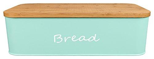 GranRosi Brotkasten - geräumige Metall Brotbox mit hochwertigem Bambus Schneidebrett