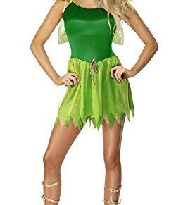 Smiffy's Smiffys-22154M Disfraz de Hada de los bosques, con Vestido, Pieza para la Cabeza y alas, Color Verde, M-EU Tamaño 40-42 22154M