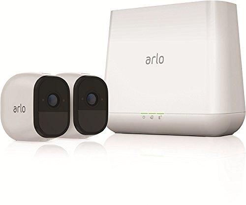 ARLO Pro VMS4230 Sistema di Videosorveglianza Wi-Fi, Kit Base con 2 Telecamere di Sicurezza Audio a 2 Vie, HD, Visione Notturna, Interno/Esterno, Funziona con Alexa e Google Wi-Fi