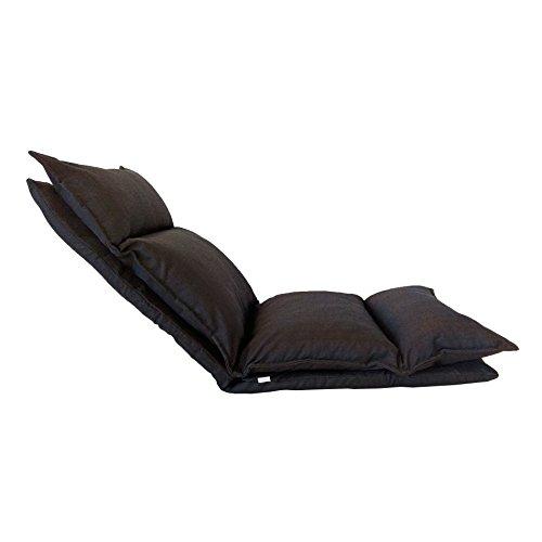 Rebecca Mobili Chaise de Méditation Siege de Sol Métal Noir Polyester Pliable Balcon Maison (Cod. RE6198) 23