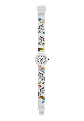 Orologio HIP HOP unisex kid KIDS FUN quadrante bianco e cinturino in silicone bianco unicorn, movimento SOLO TEMPO - 3H QUARZO