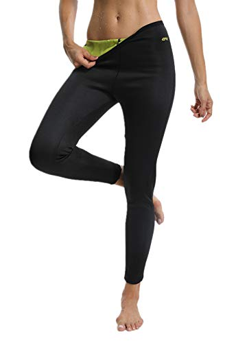 FITTOO Pantaloni Sauna Dimagranti Donna Leggins Sportivi Fitness Sauna Pants Hot Shapers, Giallo,...