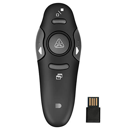 Puntatore Laser, Doosl Telecomando per Presentazioni PowerPoint Mini Ricevitore USB da 2.4GHz...