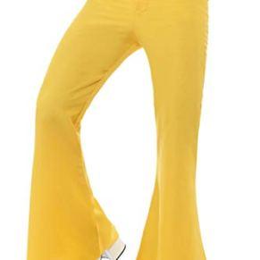 Smiffy'S 48192M Pantalones De Campana Para Hombre, Amarillo, M - Tamaño 38