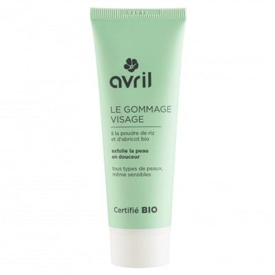 AVRIL - Scrub Viso - Peeling ecobio per ripristinare dolcemente la struttura cutanea - Adatto a tutti i tipi di pelle - Rimuove le impurità - Ammorbidisce la pelle - 50 ml