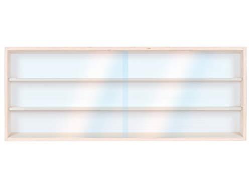 Alsino V60.3 Vetrina espositiva | 60 x 30 x 8,5 cm | in legno di betulla non trattato | 3 ripiani |...