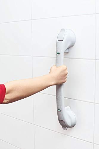TronicXL XXL Premium Vakuum Griff für Badewannen Dusche WC 50cm Aufstehhilfe Badewannengriff Haltestange Montage OHNE BOHREN Schrauben Duschgriff Badezimmer Saugnapf Griffstange Handgriff Haltegriff