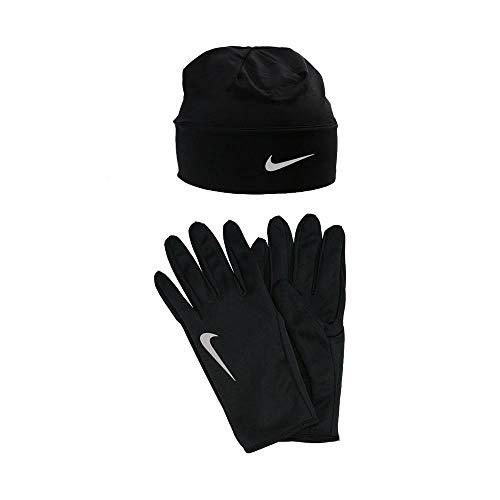 Nike Dry, Set Berretto e Guanti Uomo, Nero (Black/Silver), L/XL