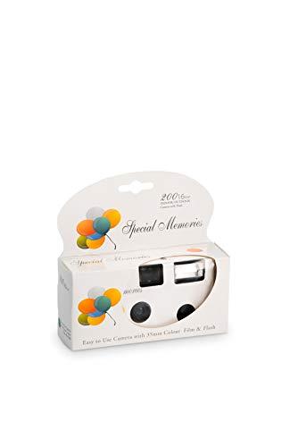 Party balloon design macchina fotografica usa e getta, confezione da 2