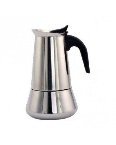 Cuperinox - Cafetière Italienne à Expresso - Acier Inoxydable - 10 Tasses - Argent