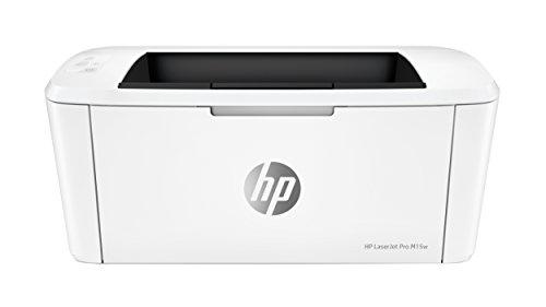 HP LaserJet Pro M15W Stampante Wireless, fino a 19 ppm (Nero), Colore: Bianco