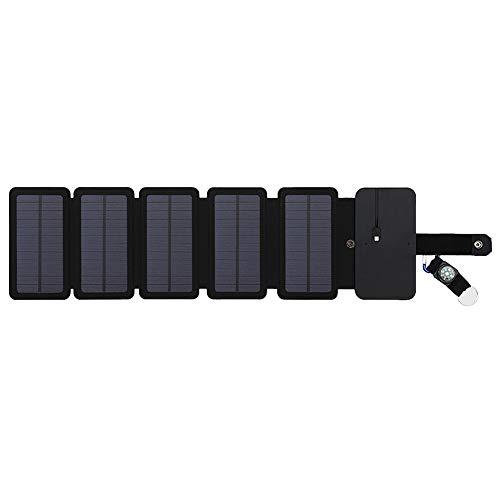 Pannelli Pieghevoli ad energia Solare, Caricabatterie Portatile per Cellulare per Escursionismo,...
