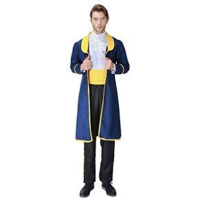 Zxb-shop Halloween para Disfraz Traje de Halloween Traje Adulto Masculino del Vampiro Pirata Superman Ropa de Cosplay Halloween Carnaval Disfraces (Color : A)