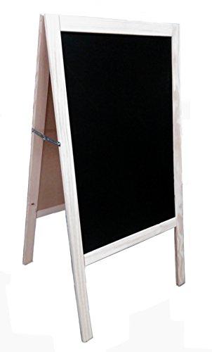 Lavagna nera, con cavalletto, in pino, 120 x 60 cm, adatta per pennarello in gesso liquido e gesso...