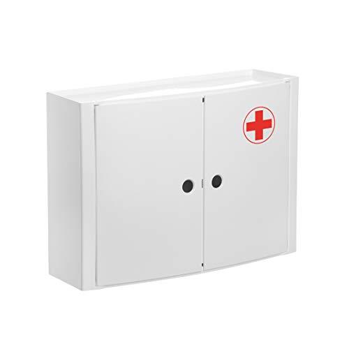 TATAY 4480209Armadietto Orizzontale a 2Ante a Farmacia Plastica Bianco 46x 15,5x 32cm
