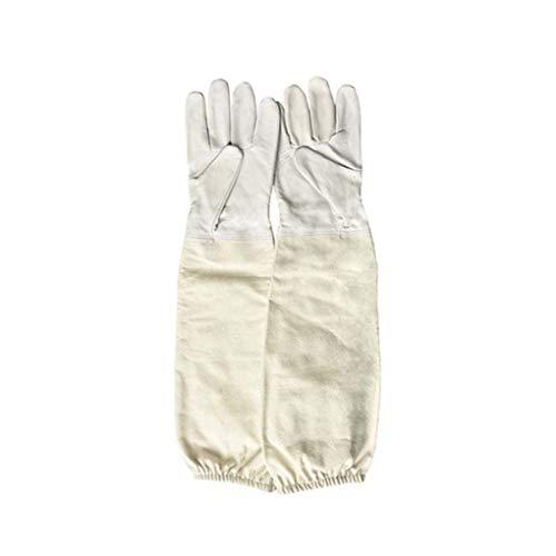 1 paio Apicoltore prevenire i guanti sottile pelle morbida guaine protettive anti Ape Apicoltura...