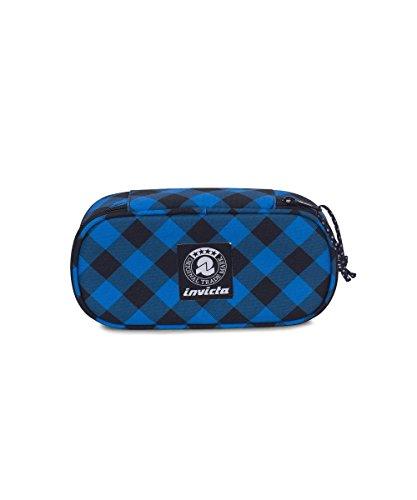 Portapenne INVICTA - LIP PENCIL BAG XL - Blue Plaid - porta penne scomparto interno attrezzato