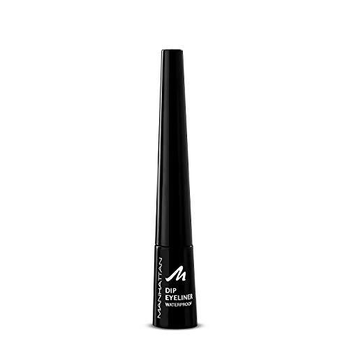 Manhattan Dip Eyeliner Waterproof, langanhaltend und wasserfest für präzisen und einfachen Auftrag, Farbe 1010N black (schwarz)
