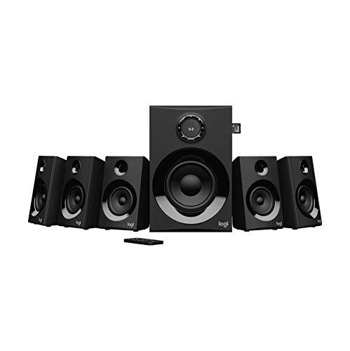 Logitech Z607 Haut-Parleurs Son Surround 5.1 (Bluetooth, RCA, Pic 160 W, Télécommande, Compatible les Ordinateurs/PC/Télévisions/Smartphones/Tablettes), Noir