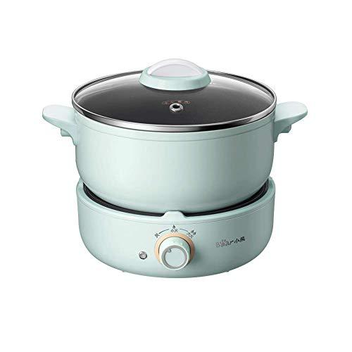 Padella elettrica, friggere e cucinare fornello elettrico multifunzione, verdure da cucina veloce e...