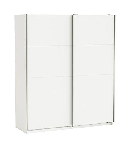 Demeyere Sensas Armadio, in Legno, Colore: Bianco Perlato, Dimensioni: 170 x 60 x 203 cm