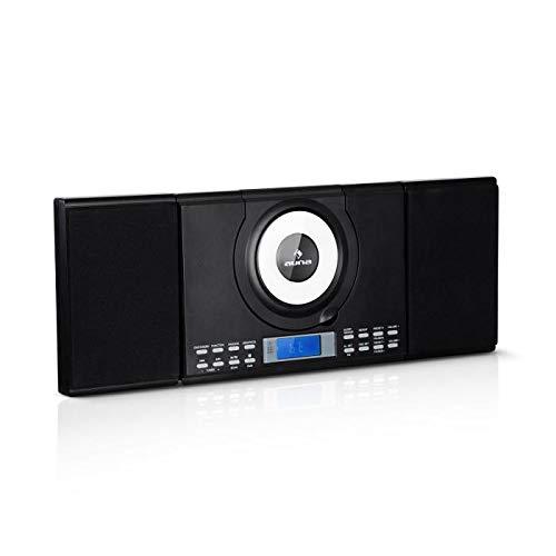 Auna Wallie Microsystem • AWM2 • Mini Stereo Compatto • Impianto Stereo • Lettore CD, CD-R,...