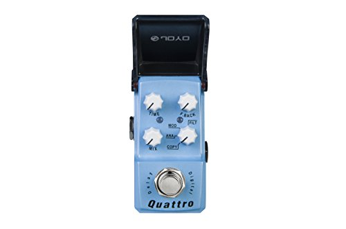 JOYO JF-318 Quattro Delay 4 Mode Guitar Effects Pedal - Digital Analog Modulation Filter Ironman