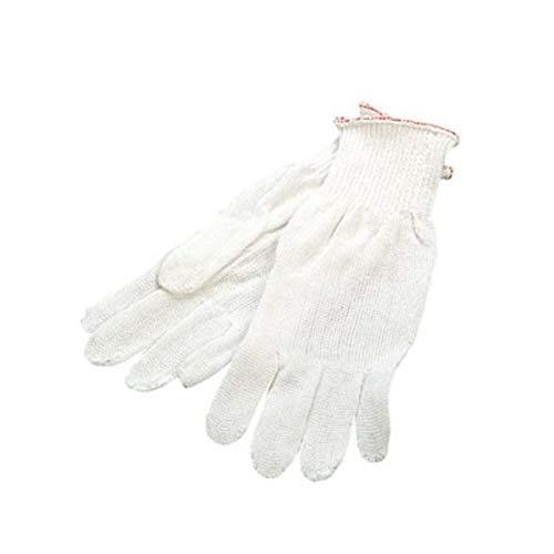 PRESTIGE - Guanti in filo di cotone bianco senza cuciture - 7 e 1/2