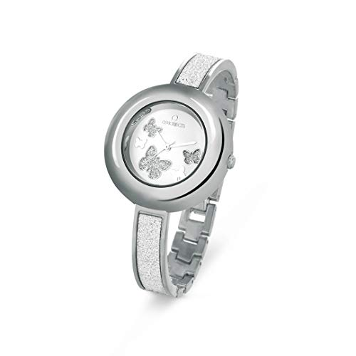 OPS!OBJECTS Glitter Lux, Orologio da polso Donna 36 mm, Colore Argento, OPSPW-366