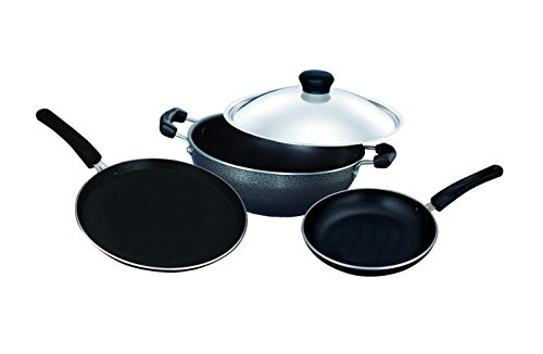 Surya Accent Cookware Set, 4-Pieces, Black