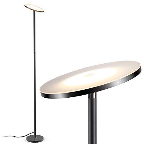 Stehlampe, LED Deckenfluter Stehleuchte Stufenlos Dimmbare Industrielle Stehlampen, TECKIN Hohe Stehende Moderne Pole-Licht, Stehlampe für Wohnzimmer Büro Schlafzimmer, 71′ TECKIN Wohnkultur Lampen
