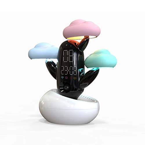 YLET Cloud Night Light, LED Smart Induction Light con Allarme Meteo e Tempo novità USB Ricarica...