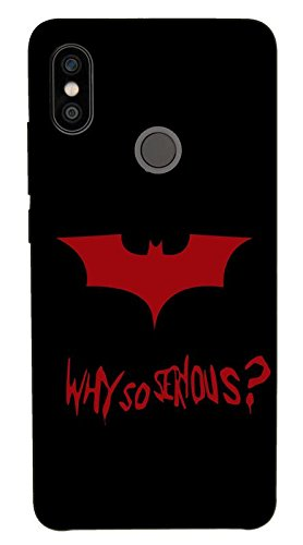 Hard Polycarbonate 3D Xiaomi Redmi MI Note 5 Pro Designer 3D Back Cover with Batman why-so-Serious