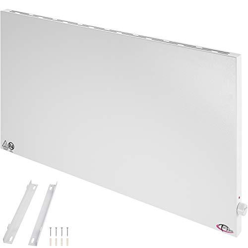 TecTake 800596 Hybrid Infrarotheizung mit Thermostat, Überhitzungs- und Überspannungsschutz, inkl. Wandhalterung - diverse Größen - (1000Watt   Nr. 402979)