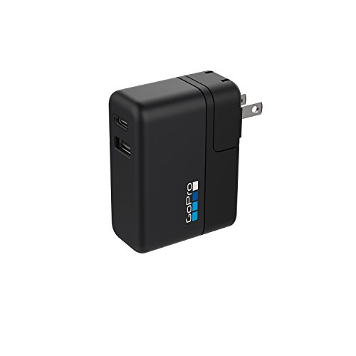 GoPro Supercharger Caricabatteria a Doppia Porta Internazionale, Nero
