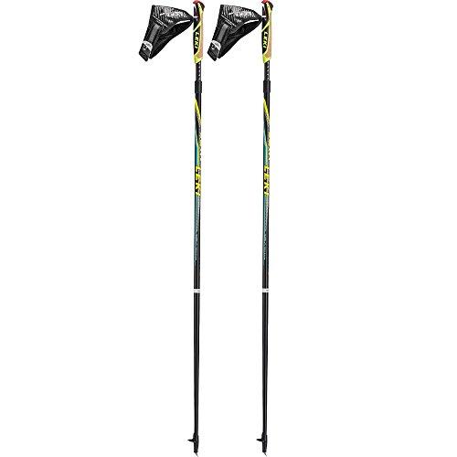 Leki Speed Pacer Vario Nordic Walking Stick, Unisex, 6402638, Black/Cyan/Neon...