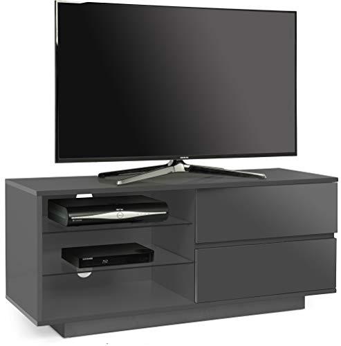 Centurion supporta Gallus grigio pietra mobile TV con 2 cassetti e 3 ripiani per TV a schermo piatto...