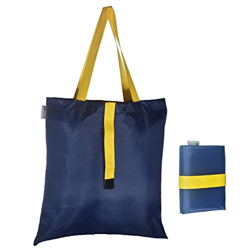 Earthy Fab Foldable Shopping Bag - Folds to Pocket Size, Tote Grocery Shoulder Handbag Travel Bag.
