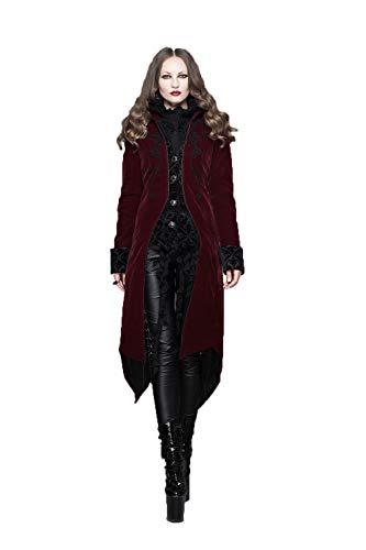 Devil Fashion Giacche Gotico Steampunk cappotto rivestimento delle donne Red poliestere manica lunga signore giacca calda Giacca,3XL
