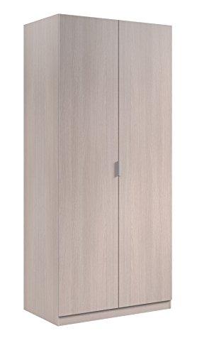 Easy Home A5 Sitael 5 Armadio Anta Battente, Legno_Composito, Beige Chiaro, 81 x 52 x 180H cm
