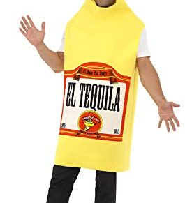 Smiffy'S 22592 Disfraz De Botella De Tequila Con Enterizo, Amarillo, Tamaño Único